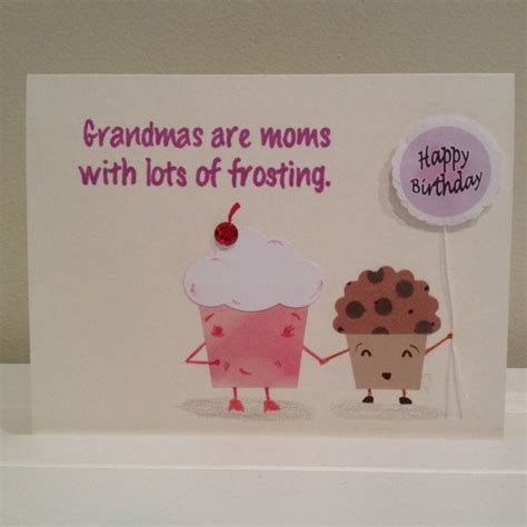 how to make a birthday card for grandmother cupcakes birthday card for grandmother by