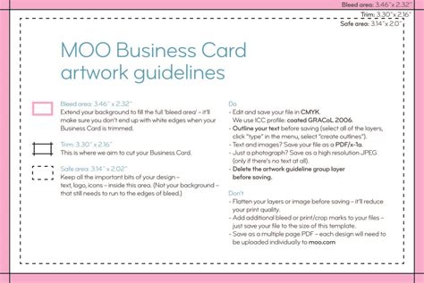 how do you make a business card moo product templates moo support