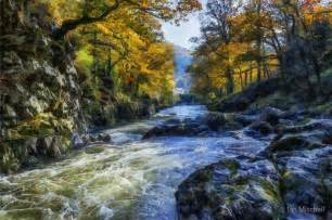 Posters Home Decor by Quot Autumn River Valley Quot By Ian Mitchell Redbubble