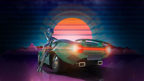 80s Car Wallpaper by New Retro Retro Synthwave
