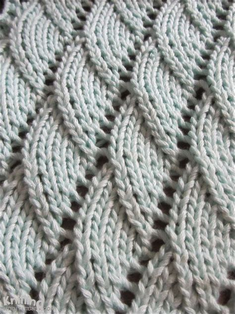 knitting stitches overlapping waves knitting pattern time to knit