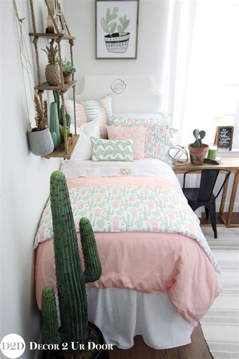 Shower Bath Inserts peach amp green cactus designer teen girl bedding set