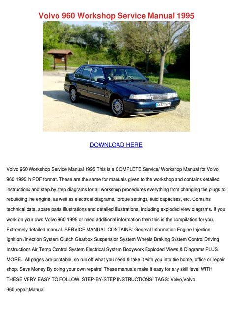 car service manuals pdf 1995 volvo 960 on board diagnostic system volvo 960 workshop service manual 1995 by willisvoigt issuu