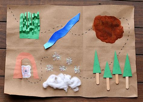 map crafts for we re going on a hunt map binoculars with free