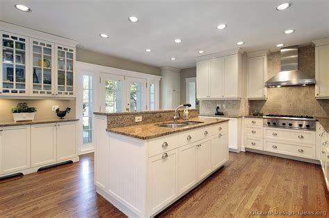 White Kitchen Cabinet Design Ideas Pictures Of Kitchens Traditional White Antique Kitchen Cabinets