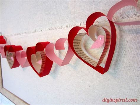 valentines day arts and crafts for valentines day craft diy garland diy inspired