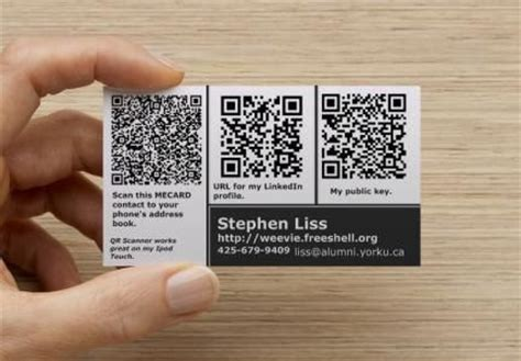 how to make a qr code business card nerdy business card with three qr codes