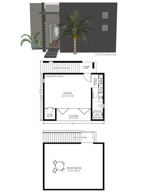 modern contemporary floor plans guest house plan modern studio 61custom contemporary modern house plans