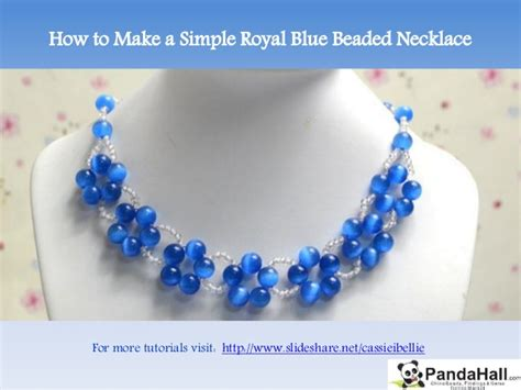 how to make a simple beaded necklace how to make a simple royal blue beaded necklace