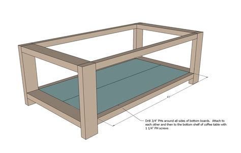 table woodworking plans free plans for a rustic coffee table furnitureplans