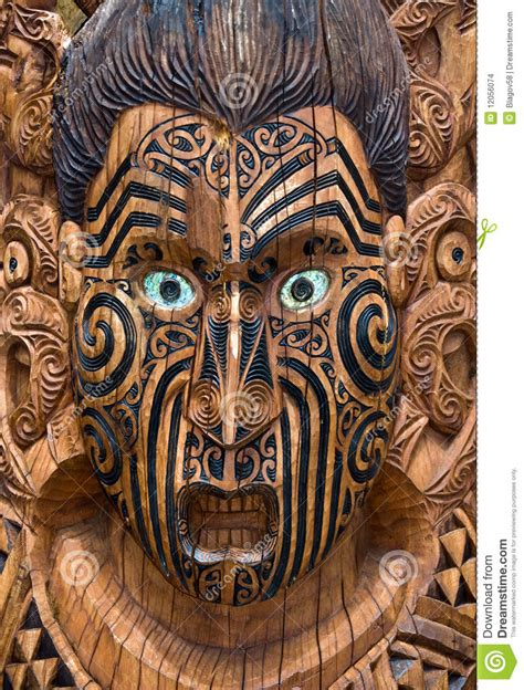 wooden nz carved wooden maori board stock images image 12056074