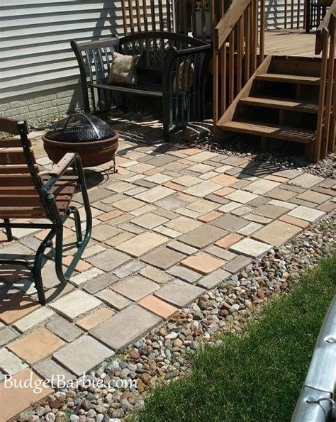 patio paver molds budget our patio using quikrete walk maker mold to
