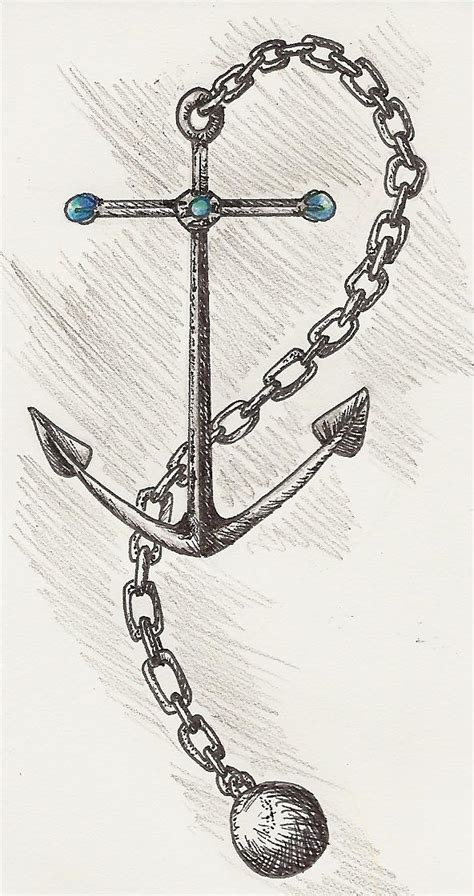 awesome anchor n chain tattoo design tattooshunt com
