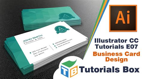 how to make a business card on illustrator illustrator cc tutorials e07 business card design