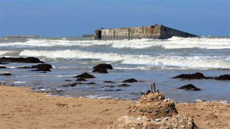 le port artificiel d arromanches menac 233 par la mer