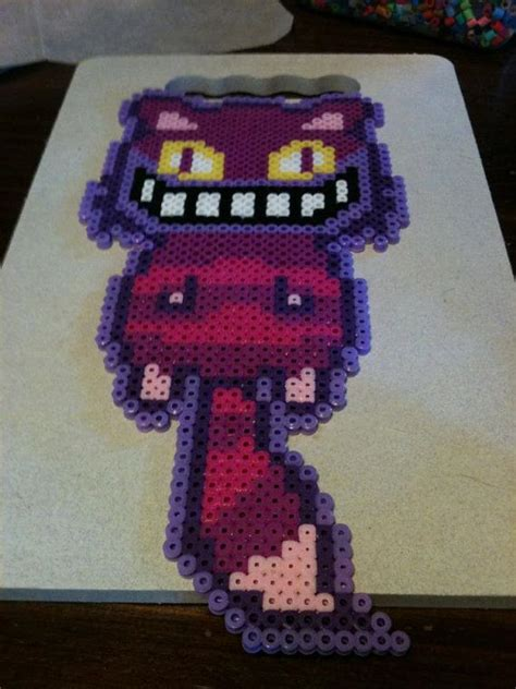 cat perler perler bead cheshire cat by gearsgalore bead patterns