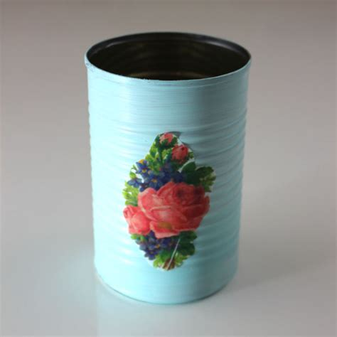 tissue paper for decoupage diy decoupage cans with printed tissue paper the