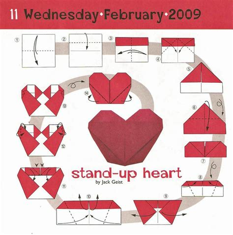 origami with stand origami stand up valentines