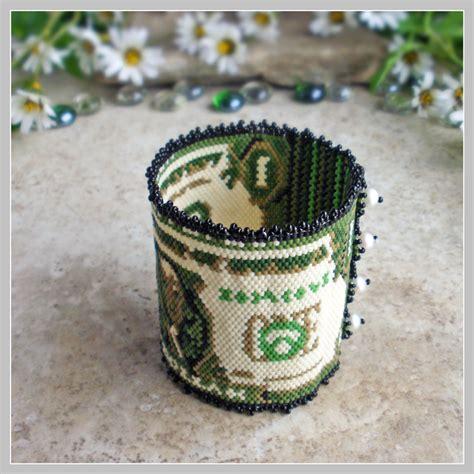 dollar bead dollar bill bracelet cuff bead pattern s fancy