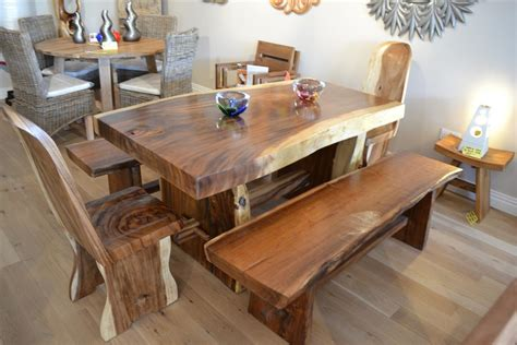 woodworking set solid chunky wood dining set