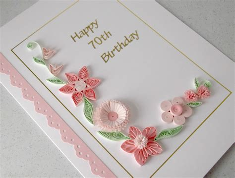 paper cards quilled 70th birthday card paper quilling