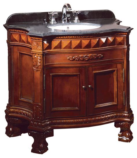 sink bathroom vanities with granite top buckingham cherry vanity with black granite top
