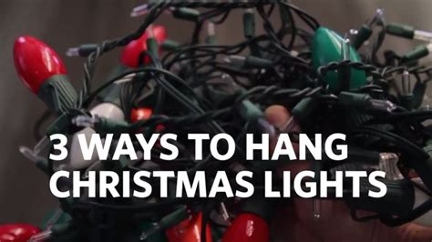 ways to hang lights outside how to hang lights on your house 3 different