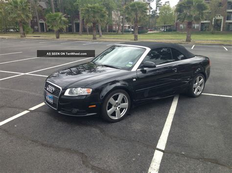 2007 Audi A4 Cabriolet by 2007 Audi A4 Cabriolet S Line Quatto Black On Black