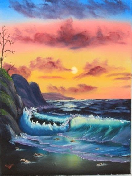 bob ross paintings for sale pbs quot by the sea quot by bob ross based on the of painting