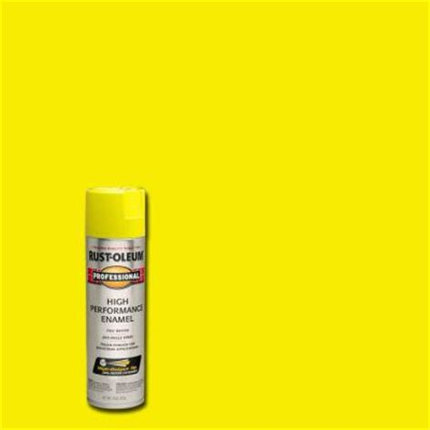 home depot spray paint yellow rust oleum professional 15 oz gloss safety yellow