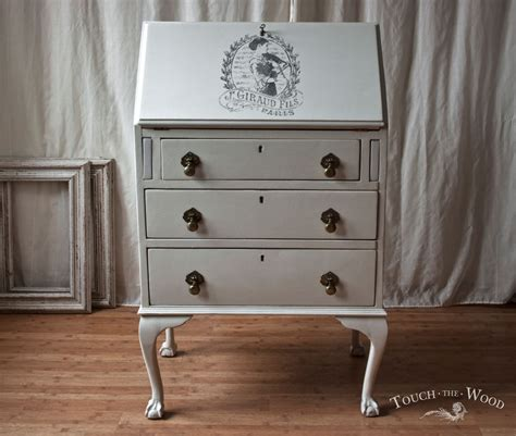 shabby chic bureau vintage shabby chic bureau with print no 22 touch the wood