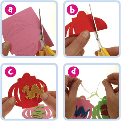 asian crafts for lantern banner craft ideas at patticrafts could