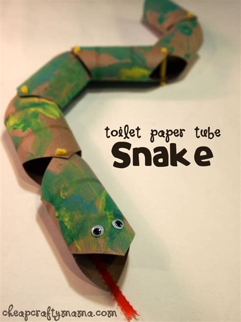 crafts to do with paper toilet paper snake crafts to do with