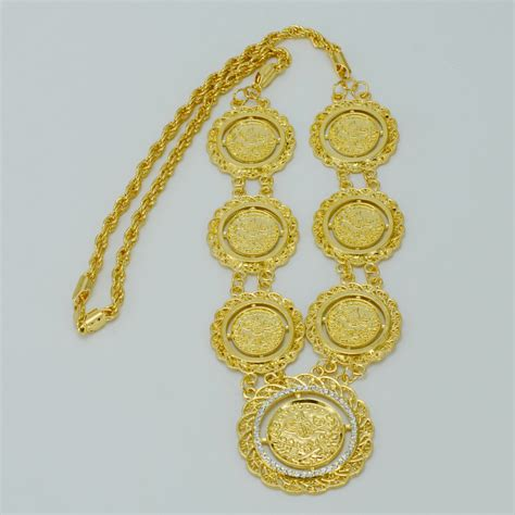gold for jewelry aliexpress buy 67cm gold coin necklace for