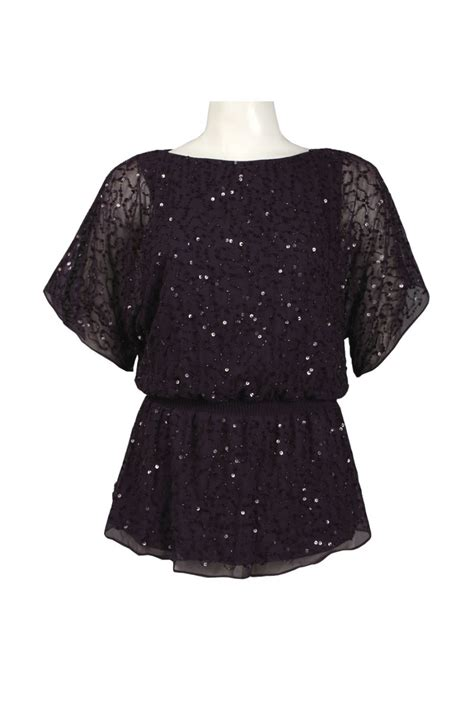 beaded tops for evening papell beaded mesh blouson top evening tops