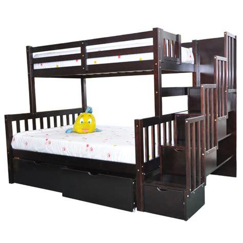 stairway bunk beds stairway bunk bed flamingo espresso stairs beds