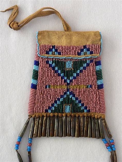 beaded pouches beautiful american indian plains style beaded