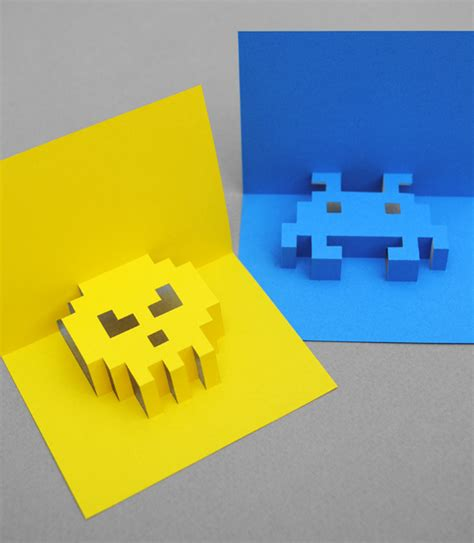 how to make an awesome pop up card how to make 3d pixel pop up cards made