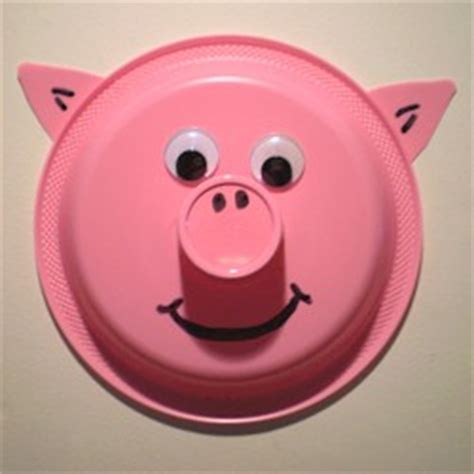 pig paper plate craft paper plate pig