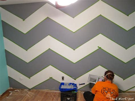 wall paint design ideas geometric triangle wall paint design idea with diy