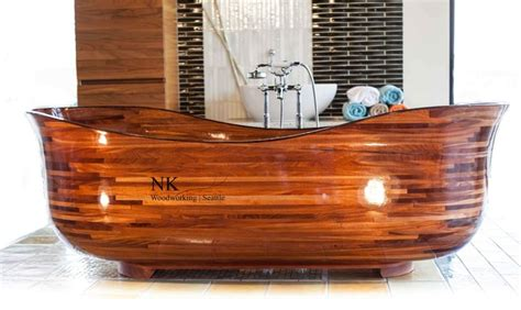 woodwork seattle wood bathtub nk woodworking seattle contemporary