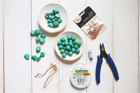 what you need to make jewelry how to make a simple beaded necklace a beautiful mess