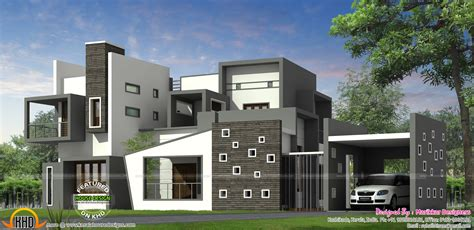 luxurious house plans luxurious contemporary style house plan kerala home