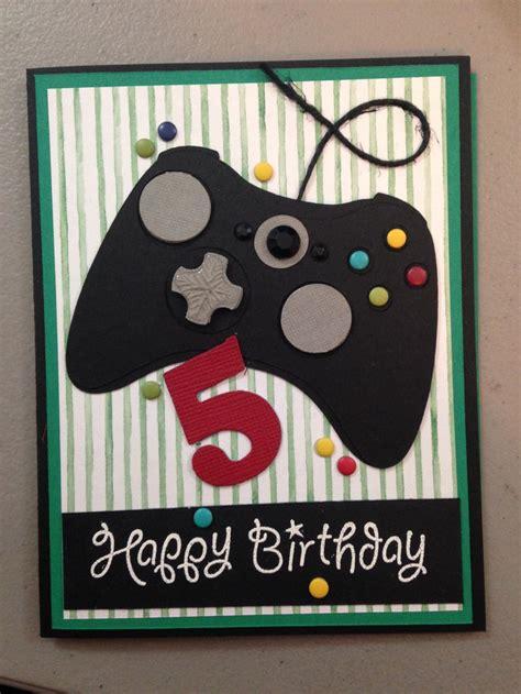 boys birthday cards to make birthday card for my gamer yup made it myself