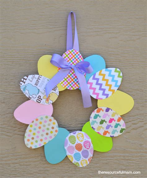 construction paper crafts for adults paper easter egg wreath family crafts