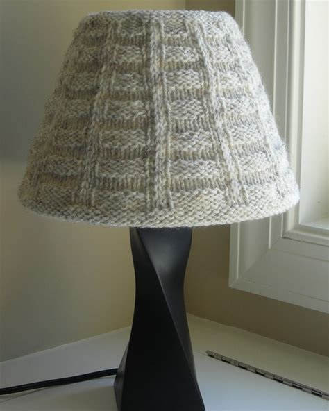 knitted light shade knitted lshade pattern pdf ribs squares by