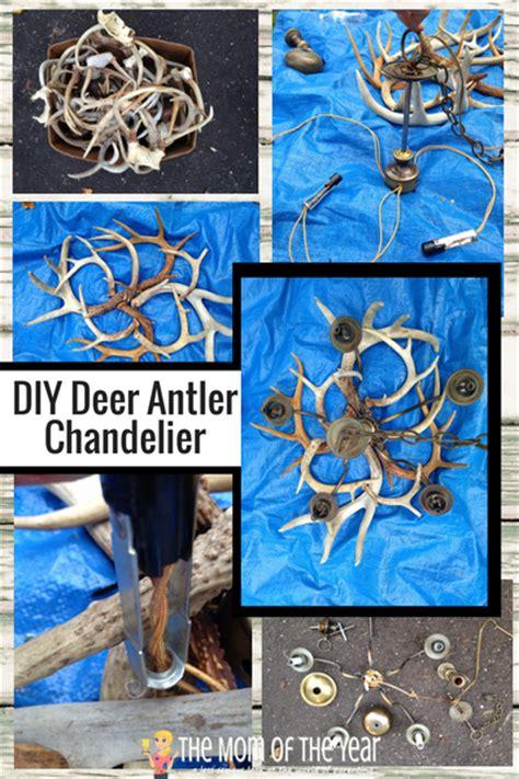 how to make a deer antler chandelier free diy deer antler chandelier the of the year