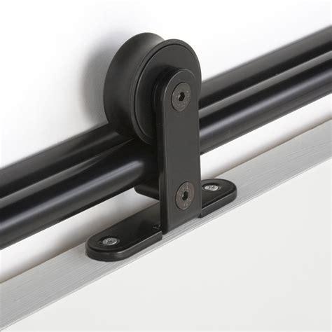 rail coulissant bolero 2 noir pour porte de largeur 93 cm maximum leroy merlin