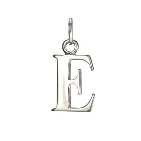 sterling silver alphabet sterling silver alphabet letter e charm