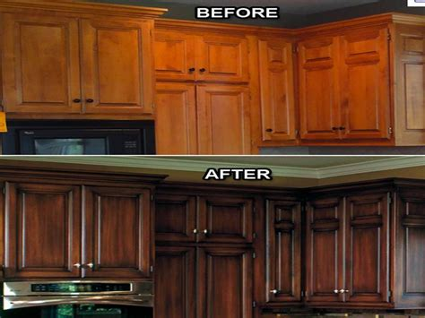 kitchen cabinet refinishing before and after kitchen cabinet refacing cost your home